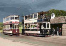 Beamish openluchtmuseum Verenigd Koninkrijk oude tram