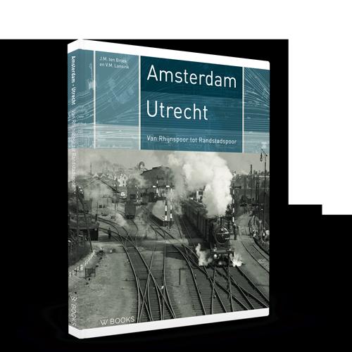 Amsterdam-Utrecht, treinen, stations, boek, Railhobby