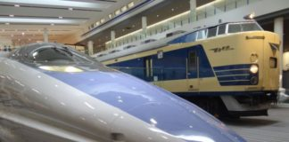 Kyoto Spoorwegmuseum, Japan, treinen